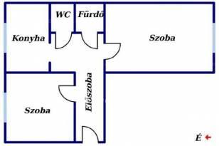 Eladó 2 szobás lakás Kazincbarcika a Fő téren