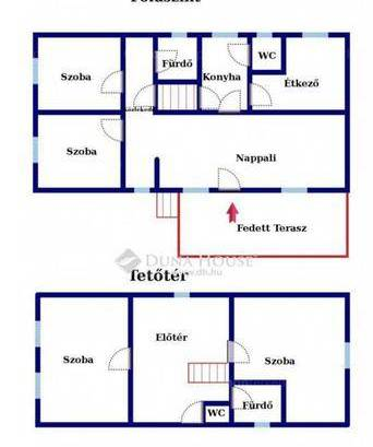 Tata 5 szobás ikerház eladó az Iskola utcában