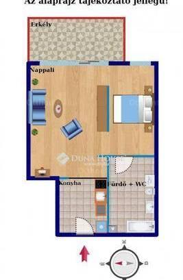Eladó lakás Kamaraerdőn, 1 szobás
