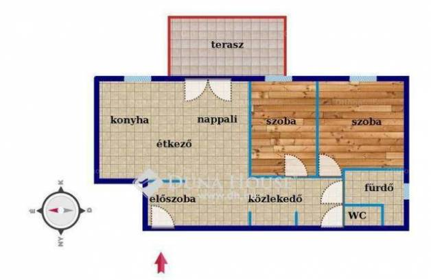 Debrecen 1+2 szobás lakás eladó a Diófa utcában