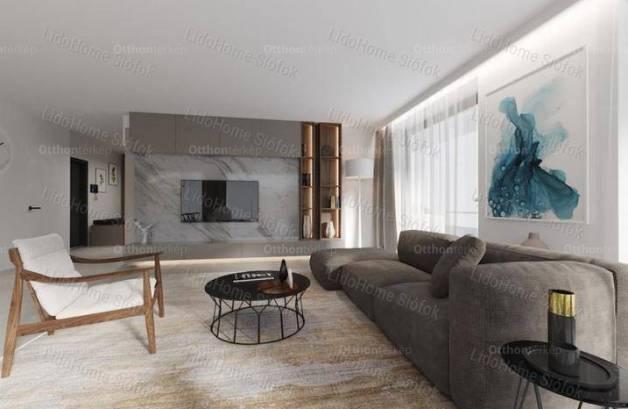Siófoki új építésű lakás eladó, 76 négyzetméteres, 4 szobás