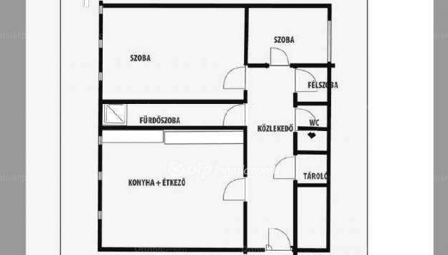 Eladó lakás, Győr, 1+2 szobás