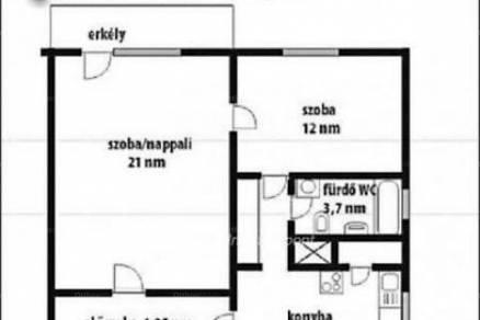 Lakás eladó Székesfehérvár, 53 négyzetméteres