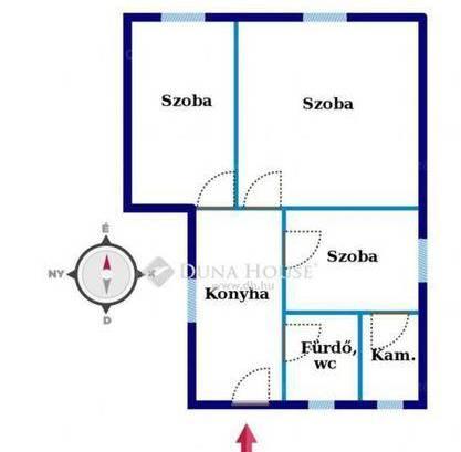 Eladó családi ház, Debrecen, 1+2 szobás