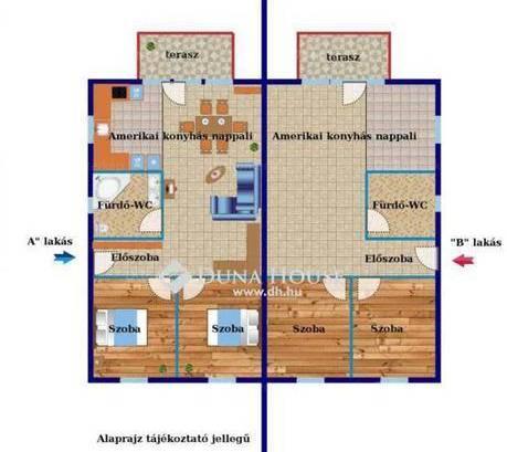 Új Építésű ikerház eladó Ócsa, a Nefelejcs utcában, 63 négyzetméteres