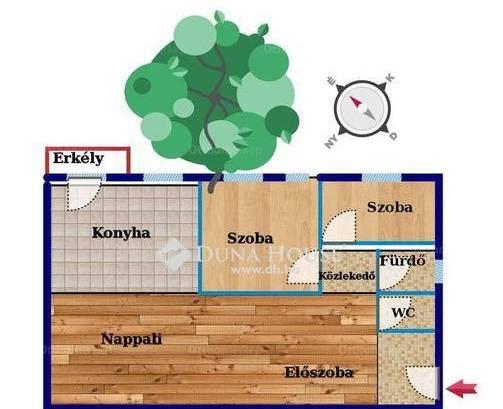 Eladó lakás Üröm, 2+1 szobás