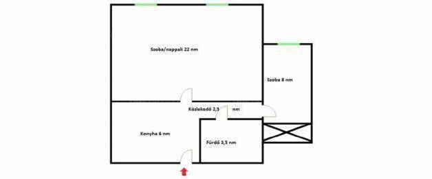 Tapolca 1+1 szobás lakás eladó