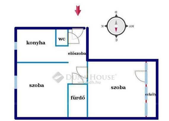 Eladó lakás Komló a Nagyszántó utcában, 2 szobás