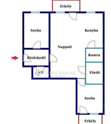 Kecskeméti lakás eladó Domb lakópark, 63 négyzetméteres