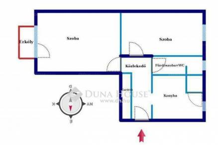 Szigetszentmiklósi lakás eladó, 55 négyzetméteres, 2 szobás