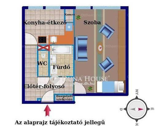 Zalaegerszeg lakás eladó, 1 szobás