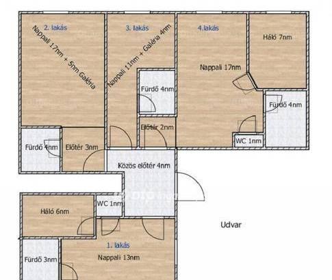 Budapesti lakás eladó, Erzsébetváros, 1+1 szobás