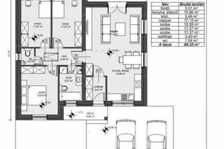 Levél új építésű, 2+2 szobás