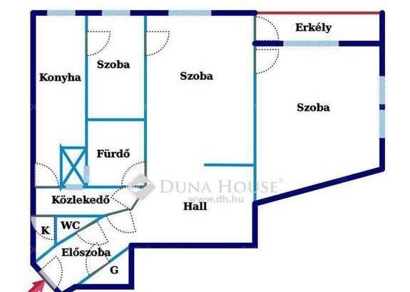 Eladó lakás Szentimrevárosban, XI. kerület Villányi út, 2+1 szobás