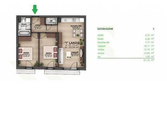 Eladó 3 szobás lakás Budapest, új építésű