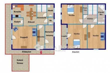 Eladó ikerház Pilisborosjenő, 3+1 szobás