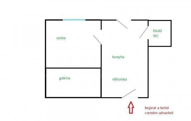 Kiadó lakás, Budapest, Erzsébetváros, Hársfa utca, 1 szobás