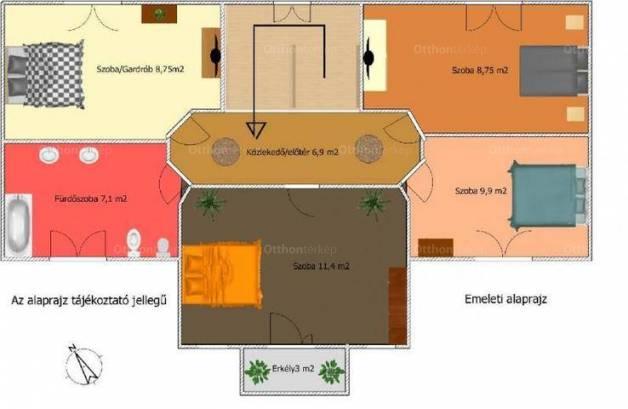Üllői sorház eladó, 100 négyzetméteres, 4+1 szobás