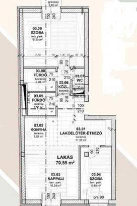 Eladó új építésű lakás Józsefvárosban, 3 szobás