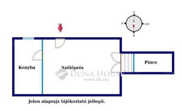 Gyódi családi ház eladó, 51 négyzetméteres, 1 szobás