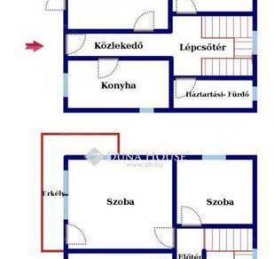Lábatlani eladó családi ház, 2+2 szobás