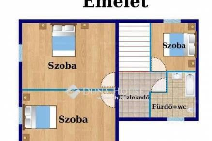 Budapest új építésű ikerház eladó, Rákoscsaba, 104 négyzetméteres