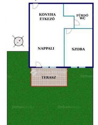 Győrújbarát 1+1 szobás lakás eladó