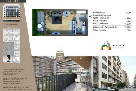 Eladó lakás Budapest, Belső-Ferencváros, Lónyay utca, 38., új építésű