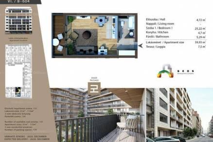 Budapesti lakás eladó, Belső-Ferencvárosban, Lónyay utca 38., új építésű