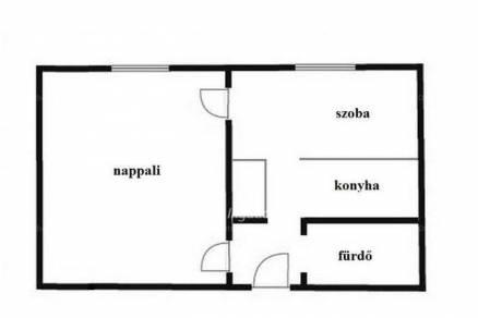 Eladó lakás Sajószentpéter, 1+1 szobás