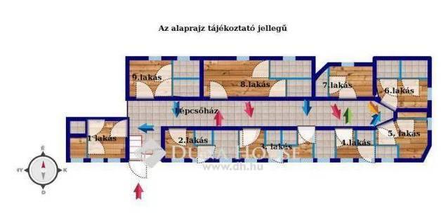 Eladó lakás Újlipótvárosban, XIII. kerület Váci út, 11 szobás