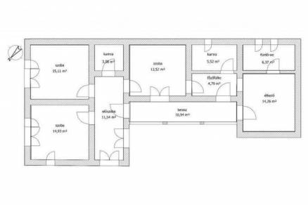 Családi ház eladó Nagyréde, 95 négyzetméteres
