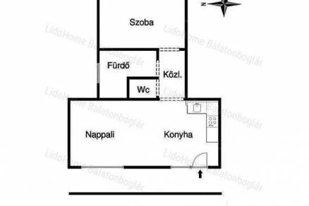Lakás eladó Balatonboglár, 51 négyzetméteres