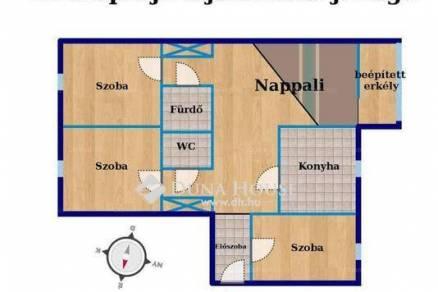 Veszprémi lakás eladó a Damjanich János utcában, 69 négyzetméteres