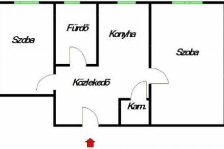 Eladó lakás Tapolca, 1+1 szobás