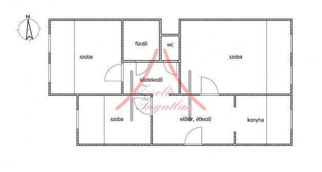 Keszthely lakás eladó, 2+1 szobás