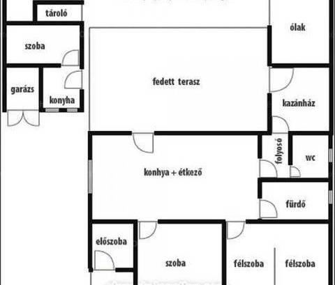 Kisszállás családi ház eladó, 1+2 szobás