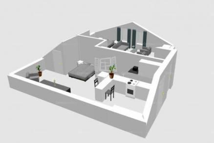 Felsőörs új építésű, 1 szobás
