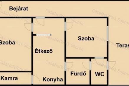 Családi ház eladó Sopron, 80 négyzetméteres