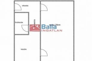 Budapesti lakás eladó, 37 négyzetméteres, 1 szobás