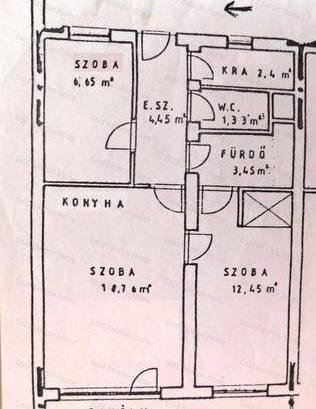 Lakás kiadó Keszthely, 57 négyzetméteres