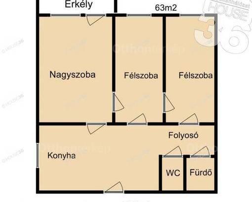 Eladó lakás, Kecskemét, 3 szobás