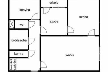 Békéscsabai eladó lakás, 3 szobás, 64 négyzetméteres