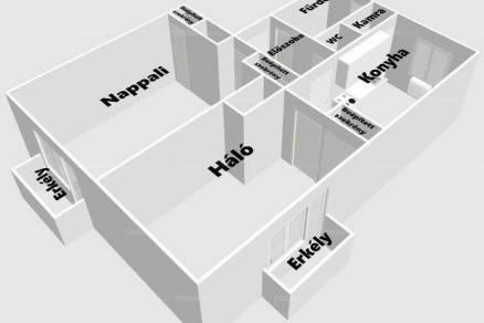 Pécsi eladó lakás, 2 szobás, 57 négyzetméteres