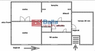 Budapest eladó ház, Rákospalota, Fazekas sor, 100 négyzetméteres