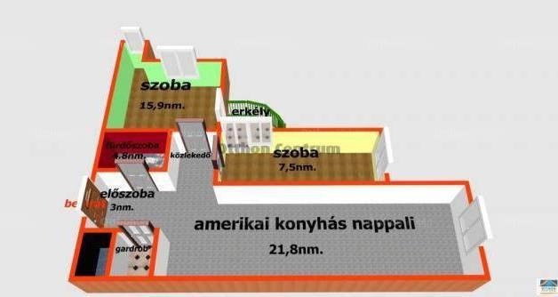Eladó lakás, Budapest, Óhegyen, 57 négyzetméteres
