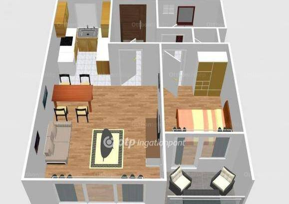 Eladó lakás, Budapest, Erzsébetvárosban, 51 négyzetméteres