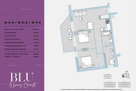 Budapest új építésű lakás eladó, 1+2 szobás