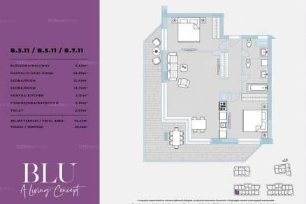 Eladó lakás Budapest, 1+2 szobás, új építésű