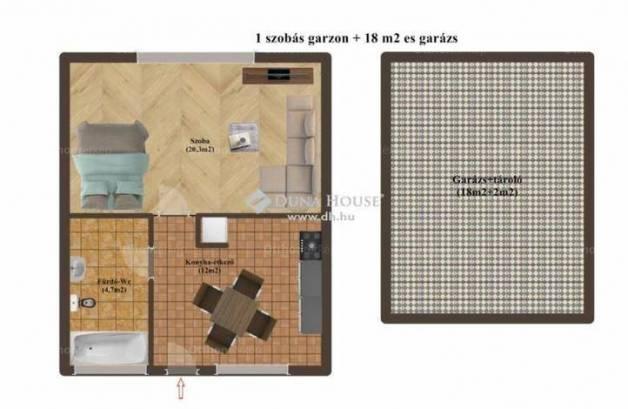 Kecskemét lakás eladó, 1 szobás